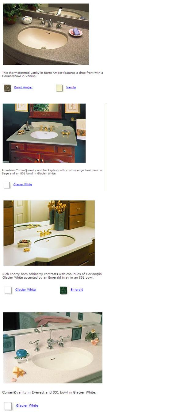 Corian® Bathroom Sink - Model 831