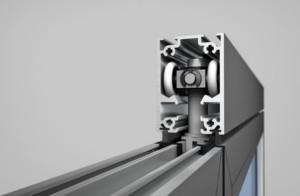 Sl45 monumental aluminum framed folding paired panel for Salt air resistant door hardware