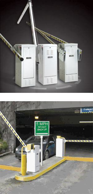 Series vehicular barrier parking gate operators