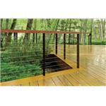 Atlantis Rail Systems - RailEasy™ Spectrum - Stainless Steel Square Railing with Cable Infill Option
