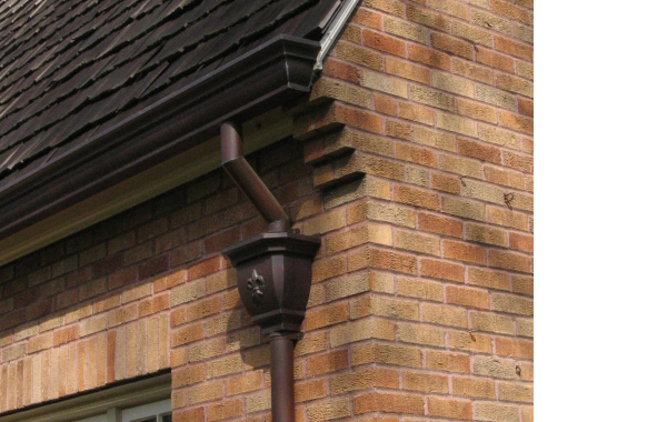 Naturally Patinaed Eclipse Millennium Copper Gutter With
