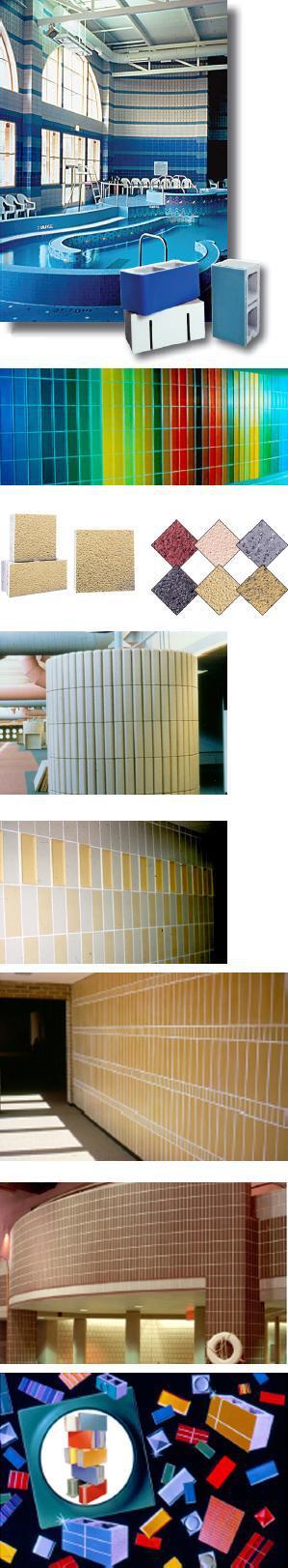 Glazed Cinder Blocks : Spectra glaze glazed concrete block group