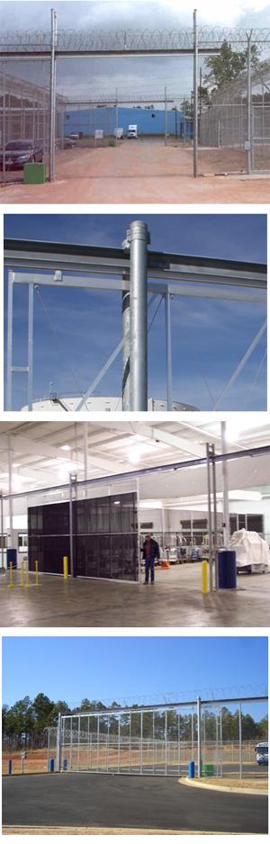 Overhead i beam slide gate systems jamieson