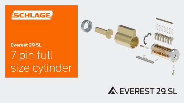 Everest 29 Sl 7 Pin Full Size Cylinder Schlage