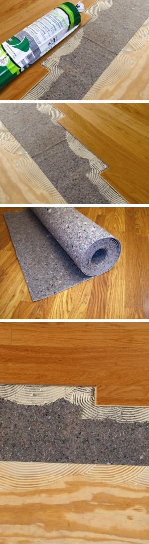 Insulayment underlayment glued or nailed wood floors for Wood floor underlayment