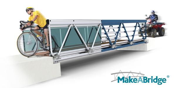 Aluminum Folding Ramps >> Make-A-Bridge® Modular Aluminum Pedestrian Bridge – MAADI Group, Inc. - Sweets