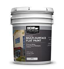 Behr Premium Exterior Multi Surface Flat Paint No 4100 Behr Process Corporation Sweets