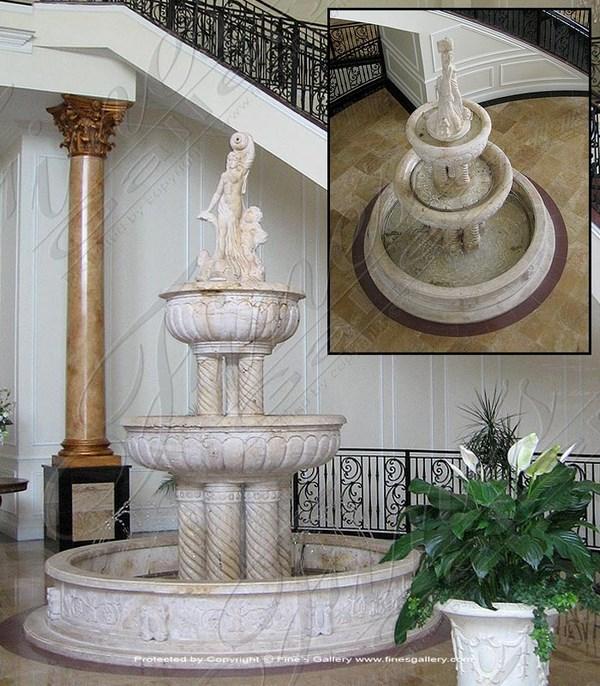 Spiral Columns Fountain w/Art - MF-268 – Fines Gallery ...