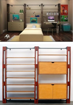 dept 87 custom wall storage system bedroom get back