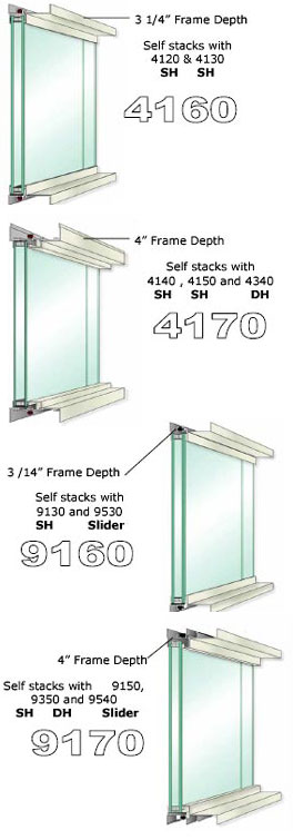 Commercial Fixed Windows : Commercial fixed windows frame depth and
