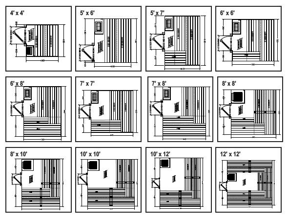 SAUNA PLANS  FREE  SAUNA DESIGN  Home Sauna Kit