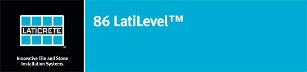 "Underlayment - 86 LatiLevelâ""¢"
