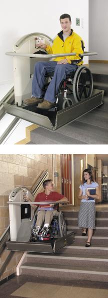 garaventa lift xpress ii inclined platform wheelchair lift. Black Bedroom Furniture Sets. Home Design Ideas
