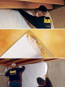 Knauf basement wall insulation for Blanket insulation basement