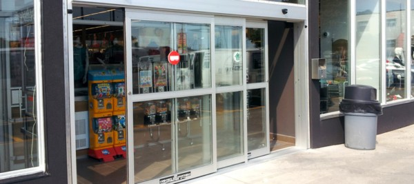 Bypass automatic sliding door system for pedestrian