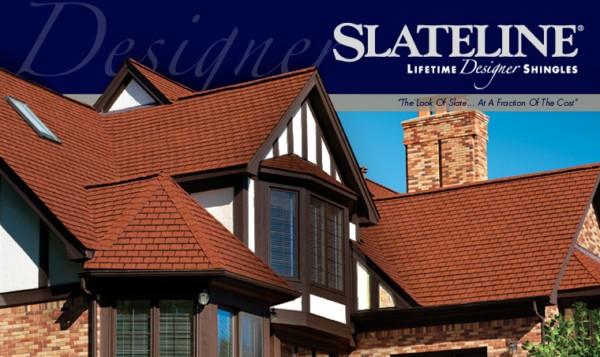 Slateline 174 Designer Lifetime Asphalt Shingles Gaf Sweets