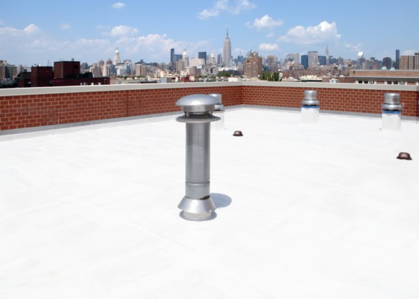 Elastomeric Roofing Membrane : Topcoat elastomeric liquid roof membranes and coatings