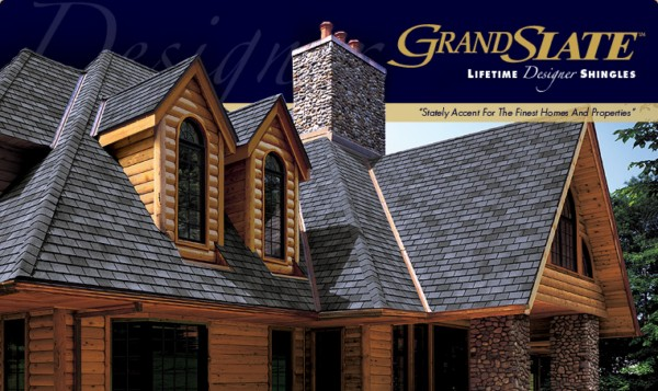 Grand Slate Lifetime Designer Asphalt Shingles Gaf Sweets