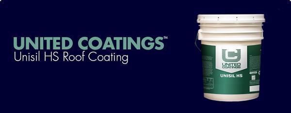 United Coatings Unisil Hs Roof Coating Gaf Sweets