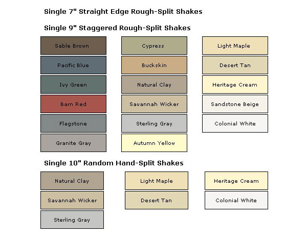 Colors Northwoods Siding Profiles Are Available In A Wide