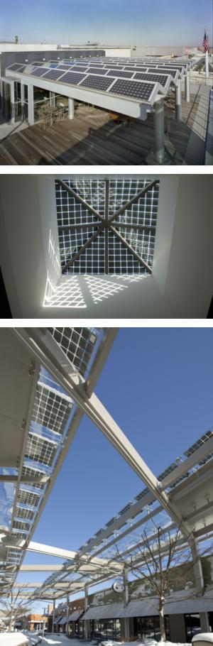 Building Integrated Photovoltaic Skylights Bipv