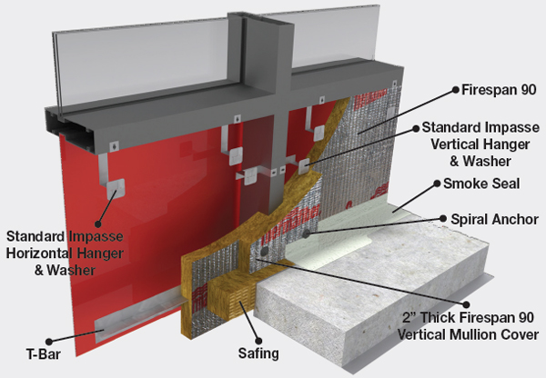 Impasse mineral wool insulation hanger system owens for Mineral wool firestop