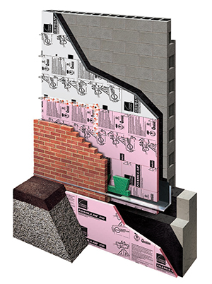 Masonry wall insulation owens corning sweets for Stone wall insulation