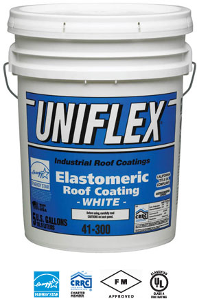 Exceptional Premium White Elastomeric Roof Coating Product Number R3.01 41 300