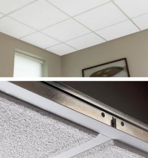 Snap clip ceiling tiles