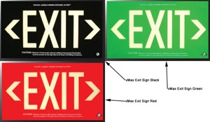 UL924 Exit Signage – Photoluminescent Emergency Exit Signs