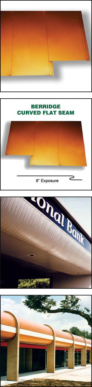 Curved Flat Seam Panel