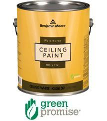 Benjamin moore waterborne ceiling paint can benjamin for Benjamin moore eco spec paint