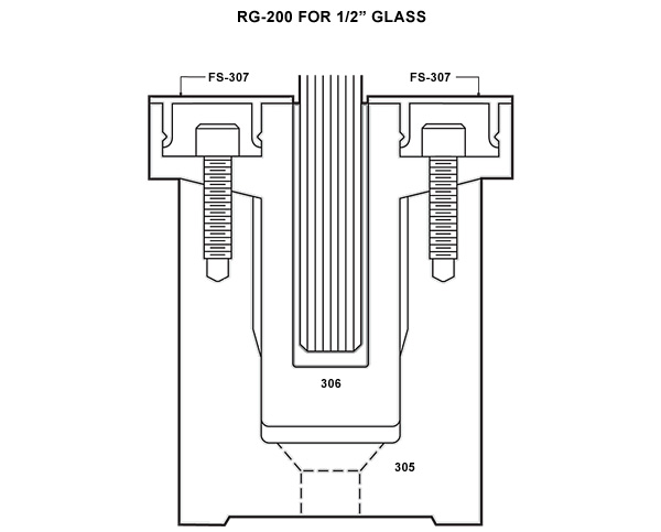 Railglass Specifications For A Two Piece Mounting Base System