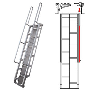Aluminum Alternating Tread Ladders Precision Ladders