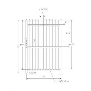 Alton 72x72-Country Estate Fence, Deck and Railing