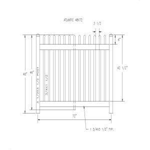 Atlantic 48x72-Country Estate Fence, Deck and Railing