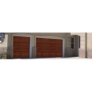 Impression collection wood grain fiberglass exterior for Wood grain garage doors