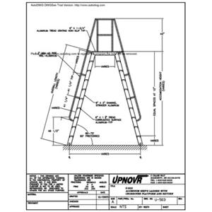 U-503 Aluminum Ships Ladder with Crossover Platform and Return-UPNOVR, Inc.