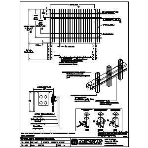CAD Montage II Industrial Welded Ornamental Steel Fence Ameristar Security Products Inc Sweets 799556 welded wire fence gate 10 on welded wire fence gate
