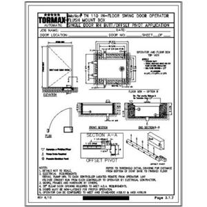 Cad details from tormax technologies inc sweets for Floor operator