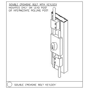 Double Bolt Keylock-Woodfold Manufacturing, Inc.