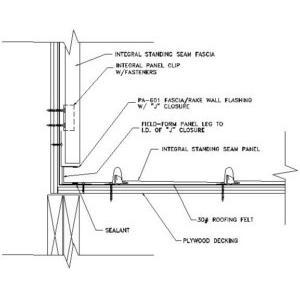 Head Standing Seam Metal Roof Details