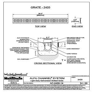 Slot drain cad detail