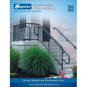 Series 500/550 Brochure-Series 500 Pipe Railings - 550 Pipe-Picket Railings