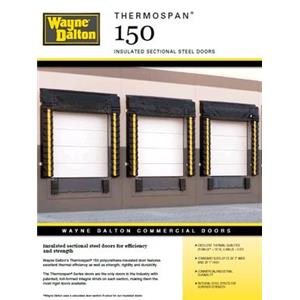 thermospan 150 insulated sectional steel door thermospan. Black Bedroom Furniture Sets. Home Design Ideas