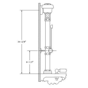 Royal Slimline Bpw-1000- Left Elevation-SLOAN®