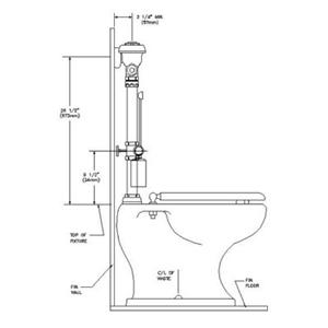 Royal Slimline Bpw-1105- Left Elevation-SLOAN®