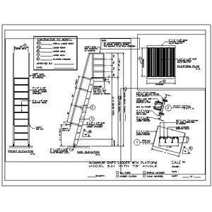 521 Ship Ladder with Platform-O'Keeffe's Inc.