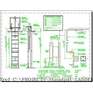 500 Standard Duty Channel Rail Fixed Access Ladder-O'Keeffe's Inc.