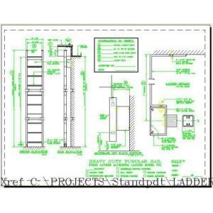 501 Heavy Duty Tubular Rail Fixed Access Ladder-O'Keeffe's Inc.
